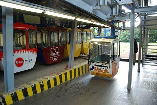 Die Zoo-Station der Rhein-Seilbahn