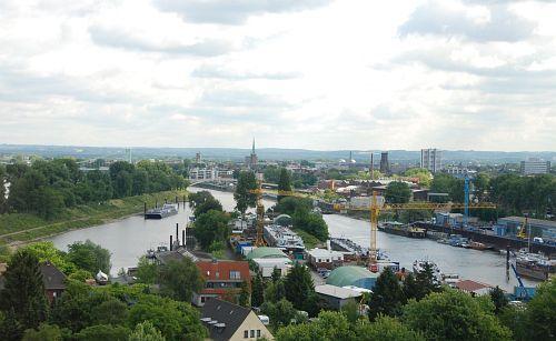 Blick aus der Gondel (Mülheimer Hafen)