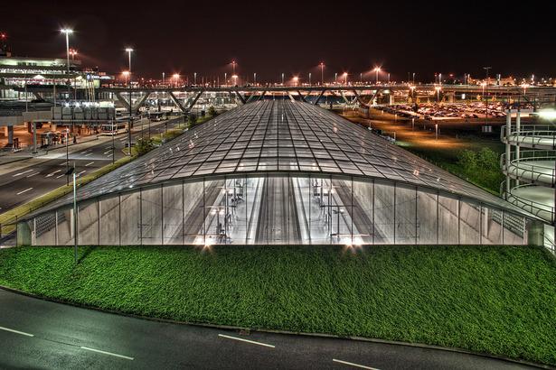 Die Bahnhaltestelle am Flughafen Köln/Bonn
