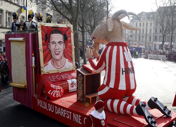 Mottowagen über Lukas Podolski