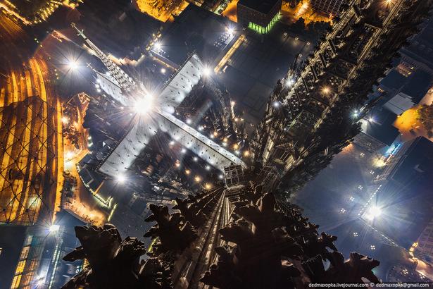 Skywalker klettern auf Kölner Dom