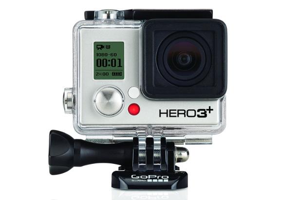 <h5>Action-Cam für jeden noch so waghalsigen Stunt: Von der GoPro (im Bild die Mark 3) erwartet man auf der Photokina einen Nachfolger mit 4k-Videobild.</h5>