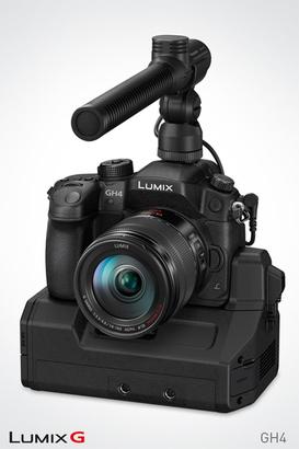 <h5>Gerade erst auf der Welt und schon ein Star: Panasonics Lumix GH4 - Wunderkind in Sachen Filmaufnahmen.</h5>