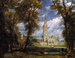 John Constable, Salisbury Cathedral from the Bishop's Grounds, 1825, Öl auf Lei