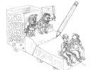 Entwürfe: Rosenmontagswagen zum Thema Meinungsfreiheit
