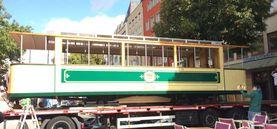 Eine historische Straßenbahn für den TimeRide