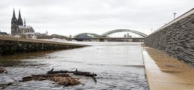 Hochwasser in Köln im Januar 2018
