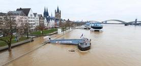 Hochwasser 2018 in Köln, Pegel bei 8,80 Meter