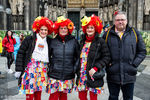 So feiern die Jecken Rosenmontag am Dom; Copyright: Foto: Steffie Wunderl