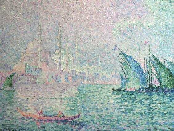 Paul Signac, Konstantinopel: Yeni Djami, 1909, Öl auf Leinwand, Wallraf-Richartz-Museum & Fondation Corboud, Dauerleihgabe Stiftung Kunst im Landesbesitz (NRW)