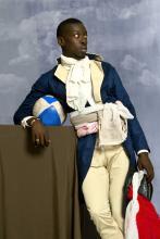 Omar Victor Diop Jean-Baptiste Belley, 2014 Series Diaspora Pigmenttintenstrahldruck auf Harman By Hahnemuhle-Papier © Omar Victor Diop, Courtesy Galerie MAGNIN-A, Paris.