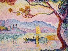 Paul Signac, Antibes (Kleiner Hafen von Bacon), 1917, Öl auf Leinwand, Finnische Nationalgalerie, Kunstmuseum Ateneum, Antell collections, Helsinki