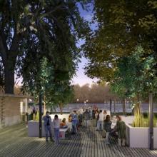 Ein neuer Platz zum Chillen und Relaxen am Weiher für die Kölner. Grafik: Architekturbüro DiekmannHartmann