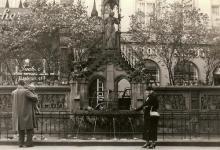 Foto von 1935: Der Brunnen wurde 1899 errichtet (Archivfoto: bilderbuch-koeln.de)