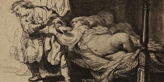 Rembrandt Harmensz. van Rijn Joseph und Potiphars Weib, 1634, Radierung, Graphische Sammlung, Wallraf-Richartz-Museum