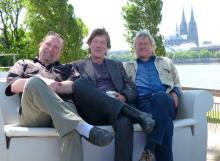 Fühlen sich wohl in Köln: Jürgen Becker, Gerd Köster und Frank Hocker (v.r.) Foto: Cora Finner