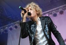 Dúné-Sänger Mattias Kolstrup sorgte für ordentlich Stimmung. (Foto: R. Gasper)