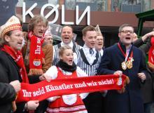 """""""Ihr seid Künstler und wir nicht!"""" lautete das provokante Motto der Initiative """"Kölner Komment"""" (Foto: R. Gasper)"""