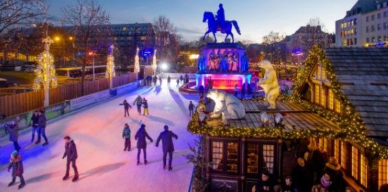 Eislaufen Köln Heumarkt