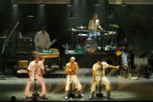 Die Fantastischen Vier beim Silvesterkonzert? Die Sportstätten GmbH plant Großes für 2009 (Archivfoto: ddp)