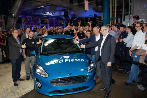 Das erste Exemplar des neuen Fiesta lief in Köln vom Band. Foto Tobias Gonscherowski