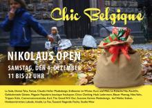 """Am Samstag öffnen die """"Chich Belgique""""-Geschäfte von 11 bis 22 Uhr. (Flyer: Veranstalter)"""