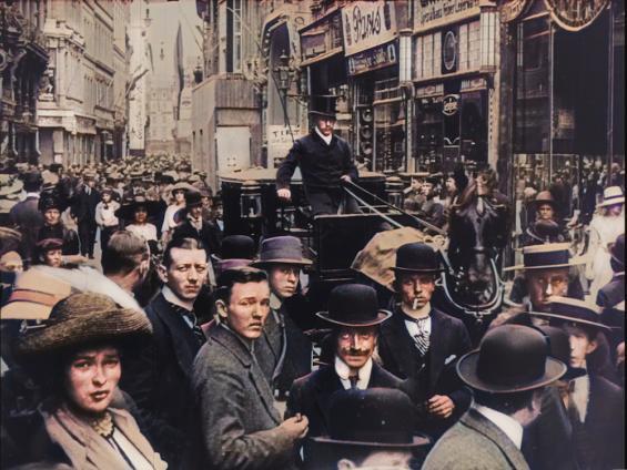 Köln zur Kaiserzeit: Die Hohe Straße im Jahr 1912 © Das alte Köln in Farbe
