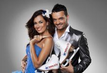 Jana Ina und Giovanni Zarrella stehen am 20. Januar auf dem Eis der Lanxess Arena. (Pressefoto)