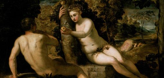 Jacopo Tintoretto, Der Sündenfall, um 1551/52, Öl auf Leinwand, 150 x 220 cm, Gallerie dell'Accademia, Venedig