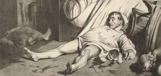 Honoré Daumier, Rue Transnonain, le 15 avril 1834, 1834, Lithographie © Privatbesitz