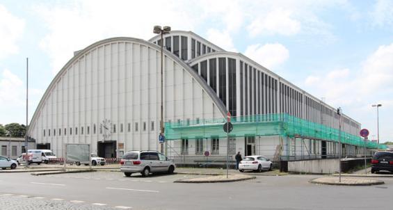 """Die zentrale Halle des Großmarkts in Raderberg: Auch sie ist ein """"aktives"""" Denkmal und kann besichtigt werden. © Stadt Köln/Dorothea Heiermann"""