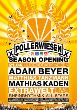 Flyer des PollerWiesen Opening 2013 (Quelle: www.pollerwiesen.org)
