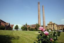 """Macht in der Südstadt """"Dampf"""": Das Heizkraftwerk Zugweg. (Foto: Rheinenergie)"""