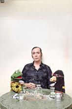 """""""Autschn!"""" Durch seinen Sprachfehler wurde René Mariks Maulwurf-Puppe berühmt. (Foto: Ben Wolf)"""