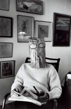 Untitled. (from the Mask Series with Saul Steinberg), 1961. Photo: Inge Morath © The Inge Morath