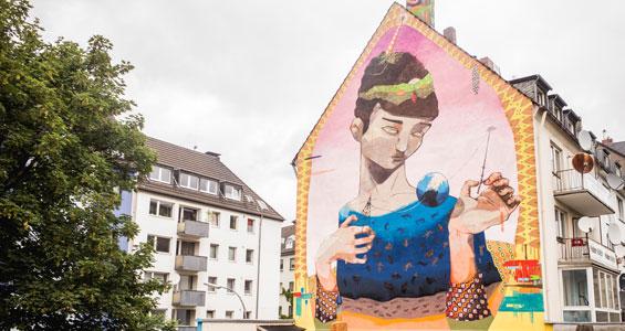 Mural vom Künstlerkollektiv Acidum von der Cityleaks 2015 Foto: Acidum & Robert Winter