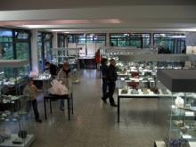 Minerale, Edel- und Schmucksteine, Meteorite und Tektite und synthetische Kristalle. Foto: Geomuseum