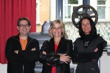 """Die Shnit-Jury 2010: Schauspielerin Simone Ritscher (""""Verbotene Liebe"""", ARD), Regisseurin Kerstin Krause und Dirk Werner vom Kölner Filmhaus. (v.r.)"""