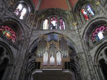 Das Orgelspiel in der Ostapsis (Foto: koeln.de)