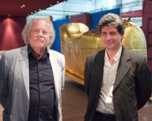 Ausstellungsarchitekt Rainer Verbizh (li.) und künstlerischer Leiter Dr. Mostafa El Ezapy (Foto: Christian Rentrop)