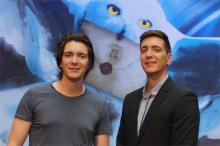 Berühmte Zwillinge: James (l.) und Oliver Phelps spielen in den Harry Potter-Filmen die Geschwister Fred und George Weasley (Foto: Cora Finner)