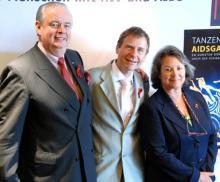 Die Initiatoren der AIDS-Gala v.l.n.r.: Ralf Bernd Assenmacher, Ulrich Heide, Jeane Freifrau von Oppenheim