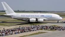 Platz für fast 500 Passagiere: Der Airbus A380 (Foto:ddp)