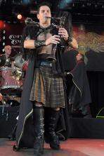 Auch bei Corvus Corax dürfen Sackpfeifen, so wie bei anderen Mittelalterbands auch, nicht fehlen. (Foto: Helmut Löwe)