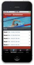 Die Smartphone-App von campussport. (Screenshot: campussport)