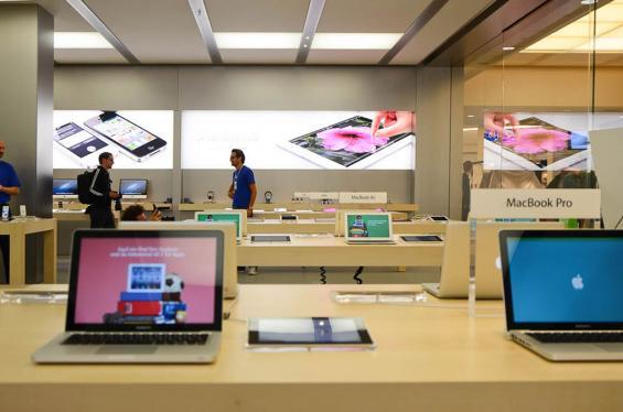 Der einzige Kölner Apple-Store ist zurzeit in Weiden beheimatet. Foto: Sven Plaggemeier