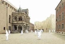 Planung des Jüdischen Museums über der Archäologischen Zone - zwischen historischem und spanischem Rathaus