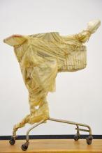 "Berühmter Verpackungskünstler Christo: ""Packed Supermarket Cart"" (Annely Juda Fine Art)"