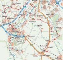 Streckenplan: Karte: www.kartengrafik.de
