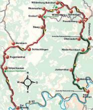 Streckenplan: Karte: Themendienst / Manfred Theisen